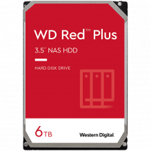 HDD NAS WD Red Plus (3.5'', 6TB, 128MB, 5400 RPM, SATA 6 Gb/s)