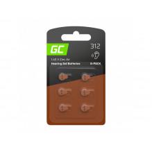 6x BatteryGreen Cell for hearing aid Typ 312 P312 PR41 ZL3 ZincAir