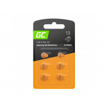 6x Battery Green Cell for hearing aid Type 13 P13 PR48 ZL2 ZincAir