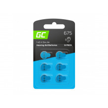 6x Battery Green Cell for hearing aid Type 675 P675 PR44 ZL1 ZincAir