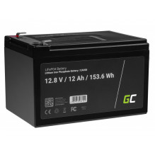 LiFePO4 battery 12Ah 12.8V 153,6Wh lithium iron phosphate battery photovoltaic system camping truck