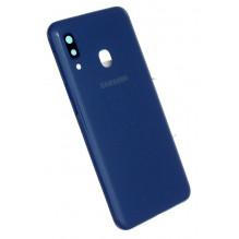 Galinis dangtelis Samsung A202 A20e 2019 mėlynas HQ